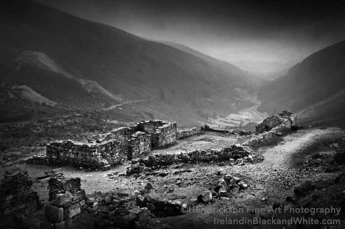 Ruins in the Valley, County Wicklow by Barry Hendrickson